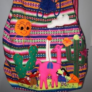 Handbags - Ethnic Handmade multicolored Backpack